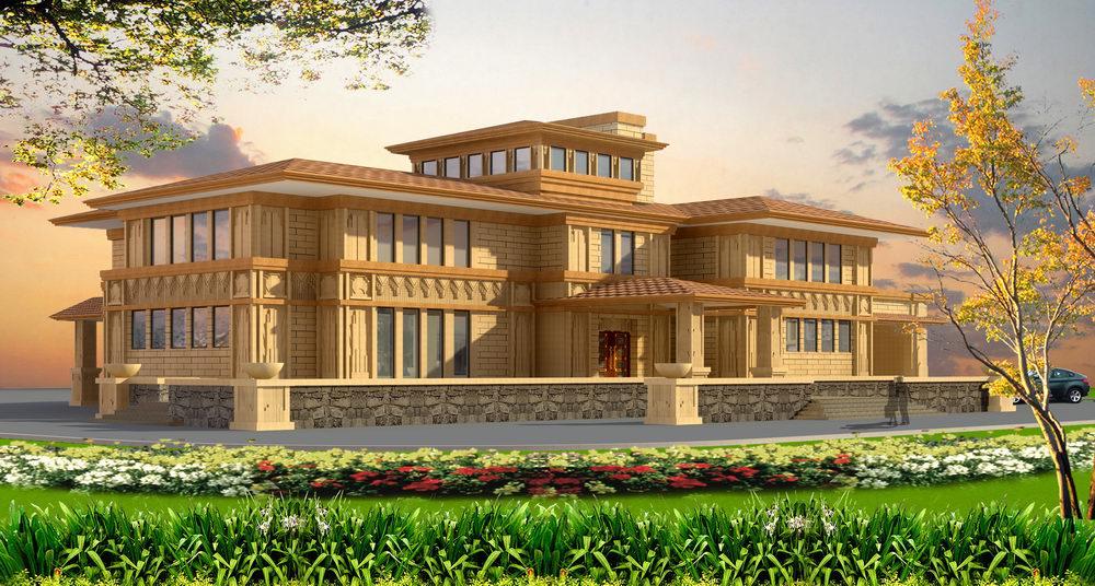 周庄钱龙盛市别墅样板建筑及室内设计
